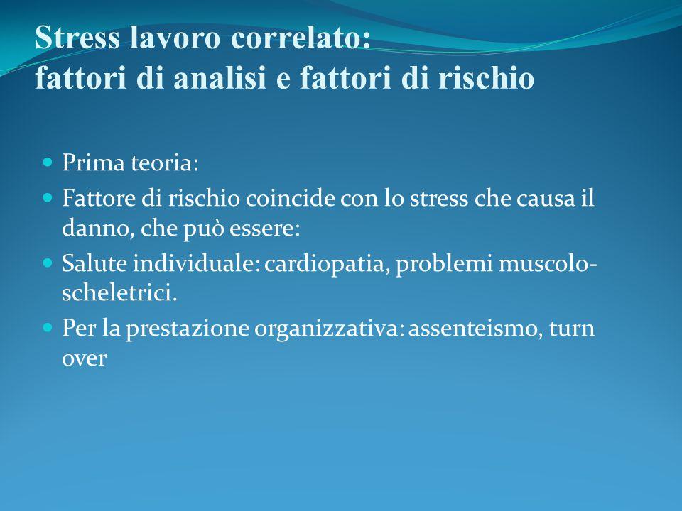 Stress lavoro correlato: fattori di analisi e fattori di rischio
