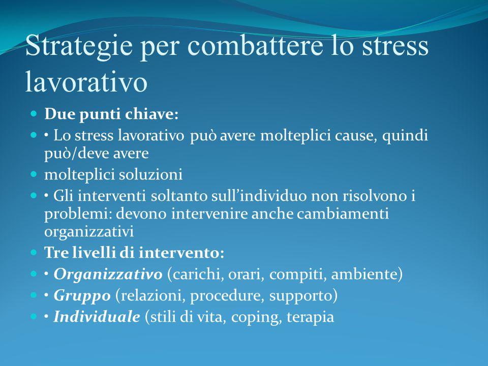 Strategie per combattere lo stress lavorativo