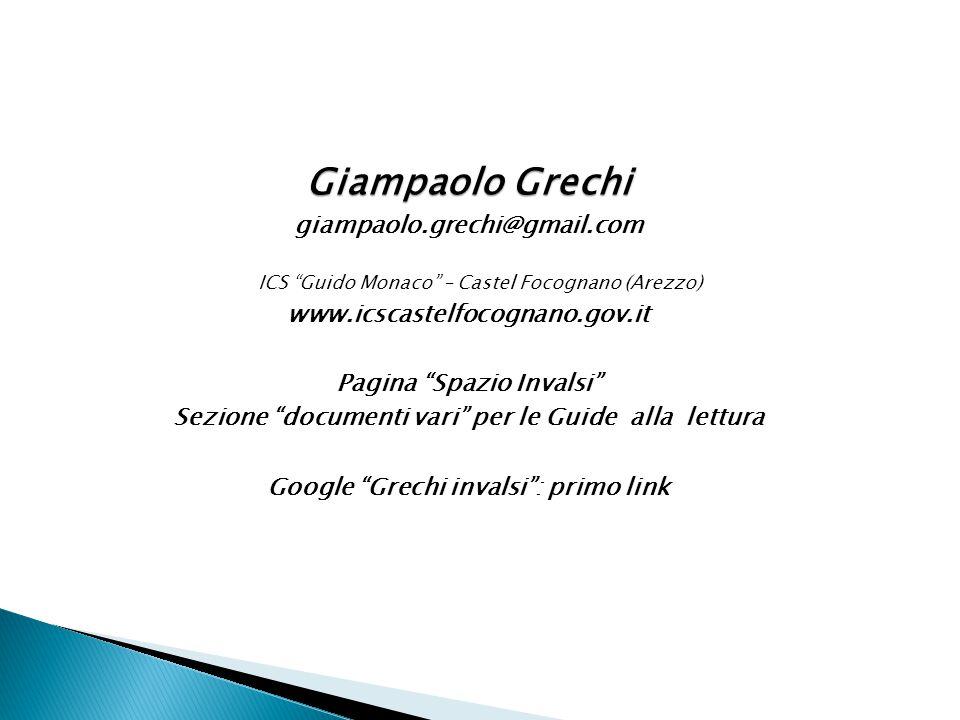 Giampaolo Grechi giampaolo.grechi@gmail.com