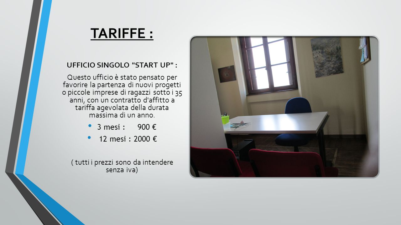 UFFICIO SINGOLO START UP :