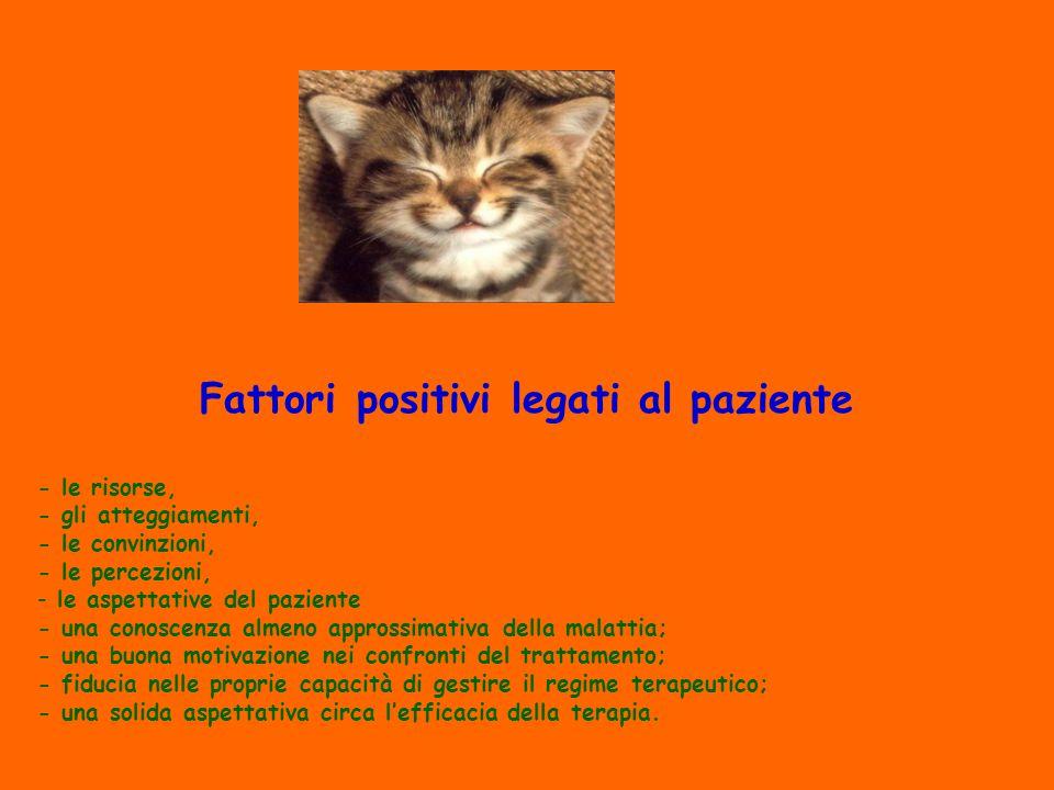 Fattori positivi legati al paziente