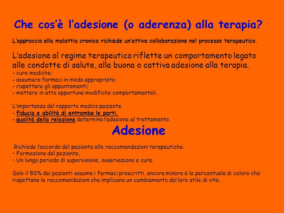 Che cos'è l'adesione (o aderenza) alla terapia