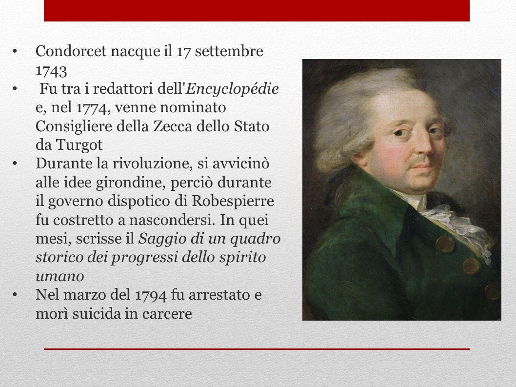 Condorcet nacque il 17 settembre 1743