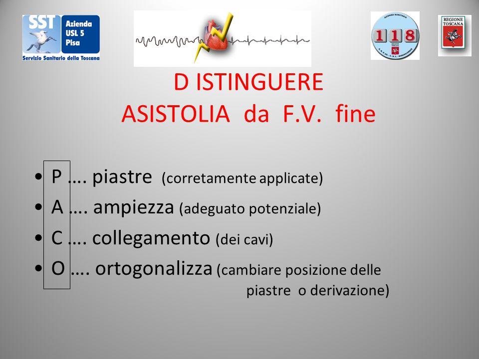 D ISTINGUERE ASISTOLIA da F.V. fine