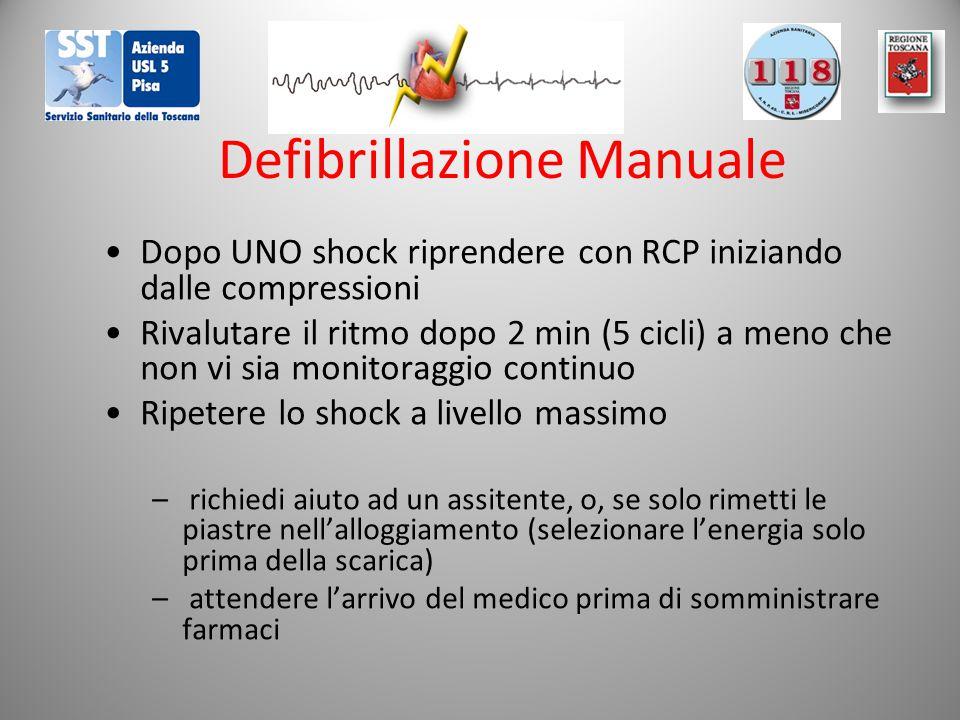Defibrillazione Manuale