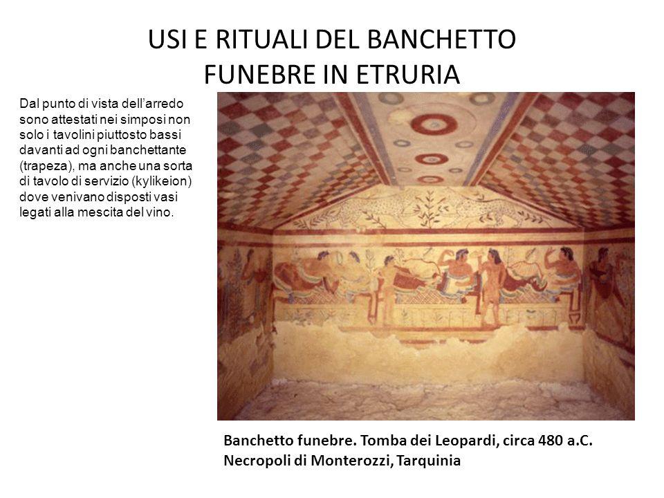 USI E RITUALI DEL BANCHETTO FUNEBRE IN ETRURIA