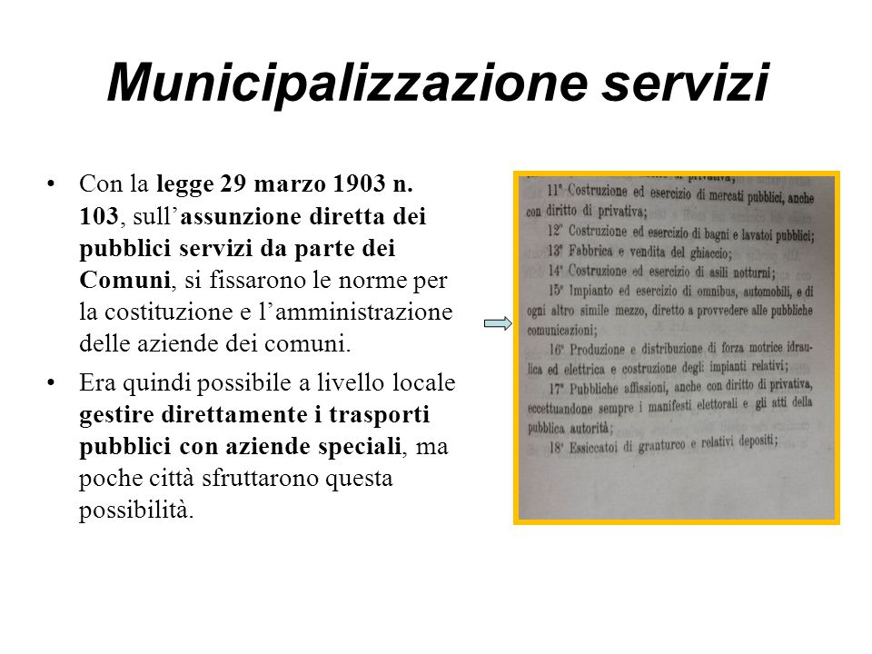 Municipalizzazione servizi