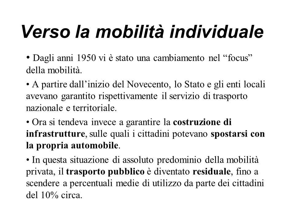 Verso la mobilità individuale