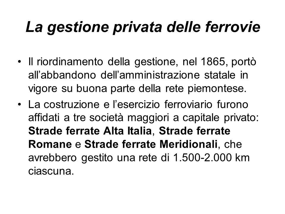 La gestione privata delle ferrovie