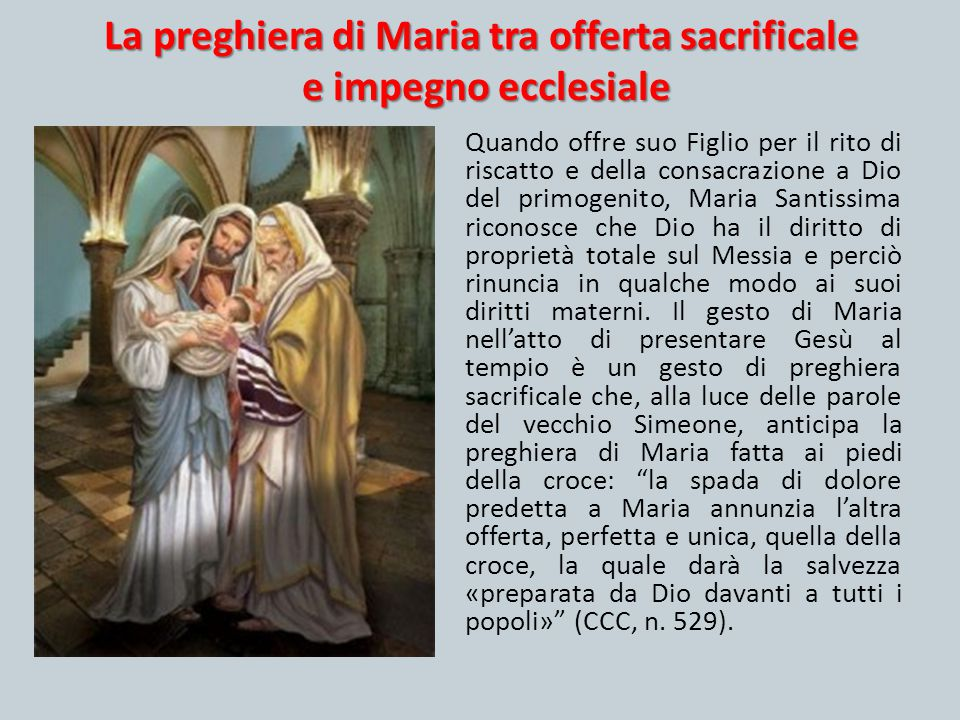 La preghiera di Maria tra offerta sacrificale e impegno ecclesiale