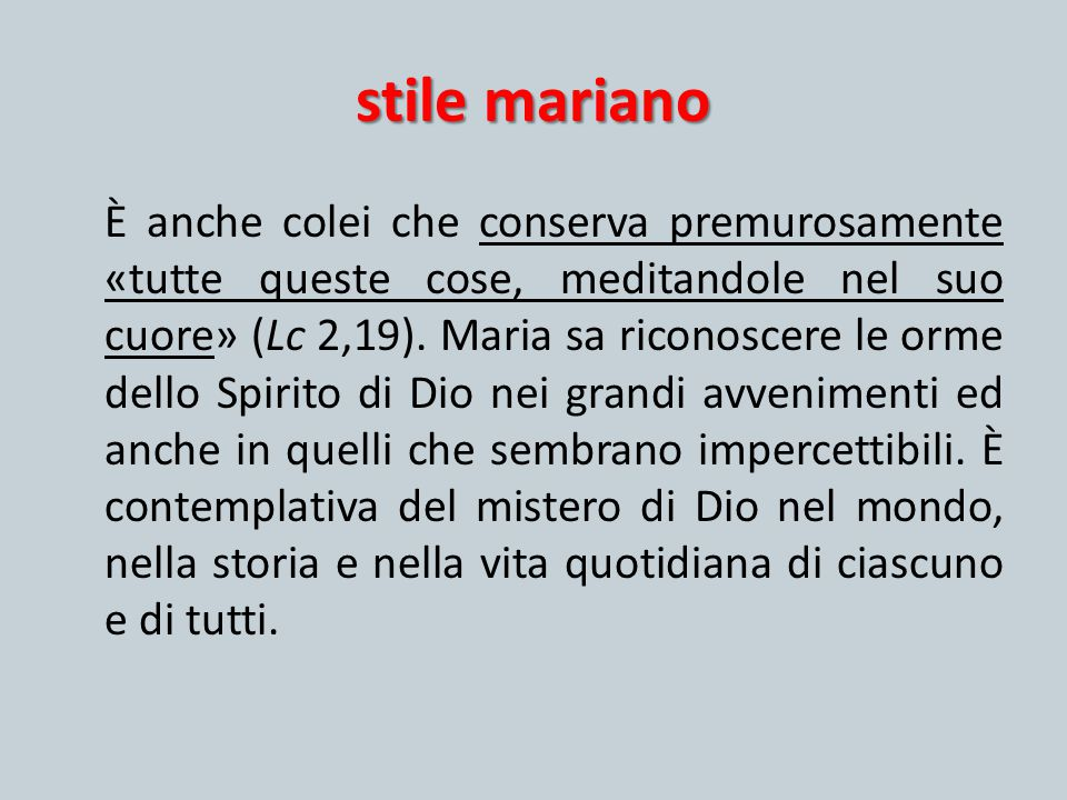 stile mariano