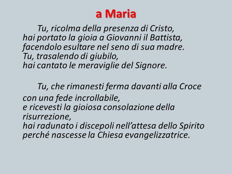 a Maria Tu, che rimanesti ferma davanti alla Croce