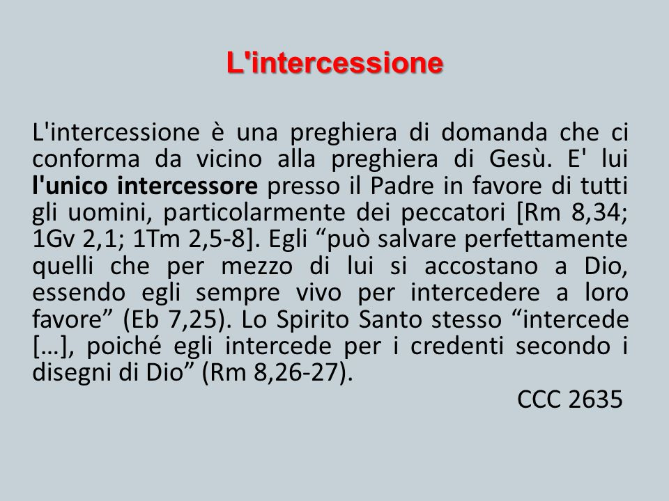 L intercessione