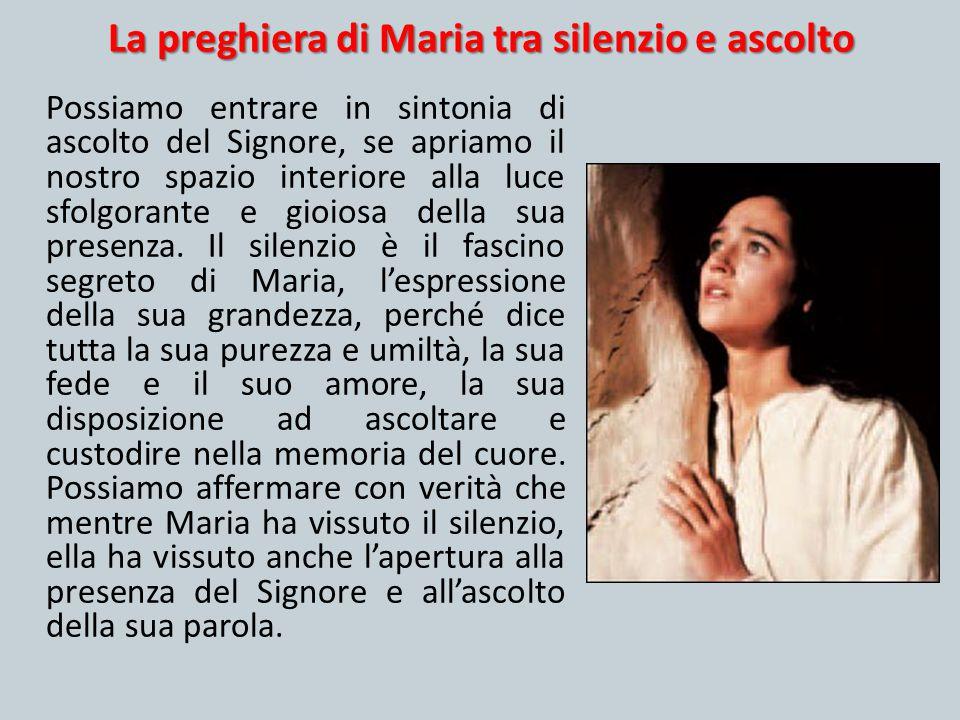 La preghiera di Maria tra silenzio e ascolto