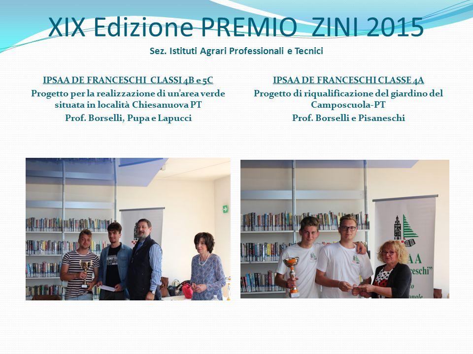 XIX Edizione PREMIO ZINI 2015 Sez