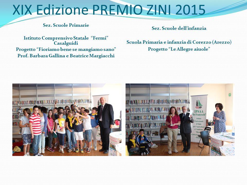XIX Edizione PREMIO ZINI 2015