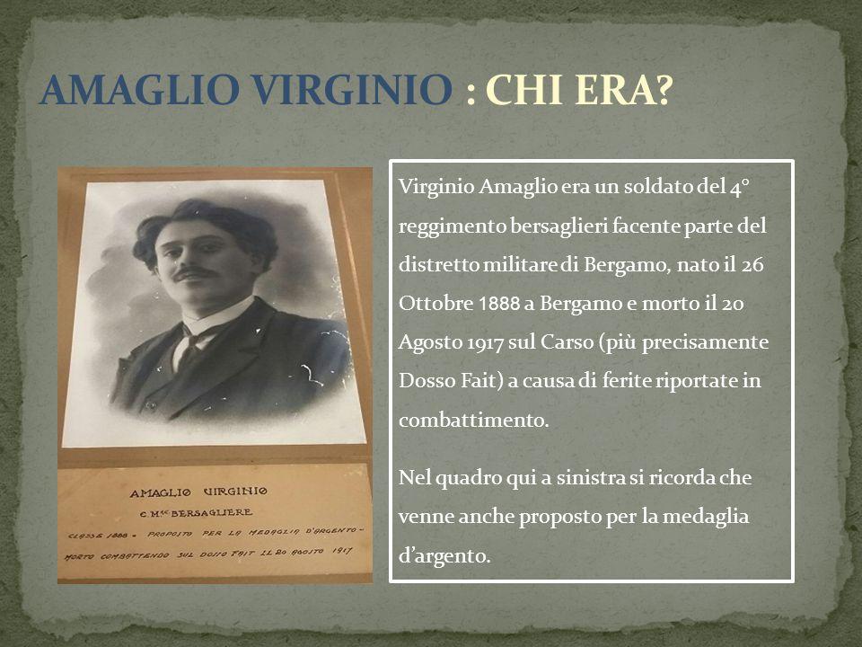 AMAGLIO VIRGINIO : CHI ERA
