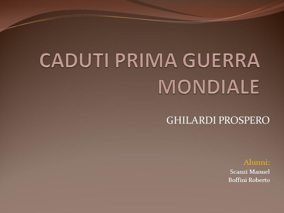 CADUTI PRIMA GUERRA MONDIALE