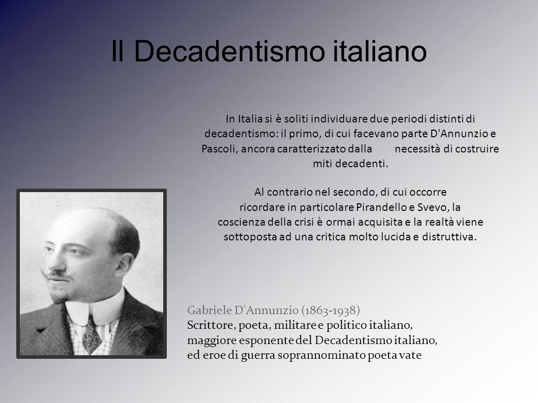 Il Decadentismo italiano