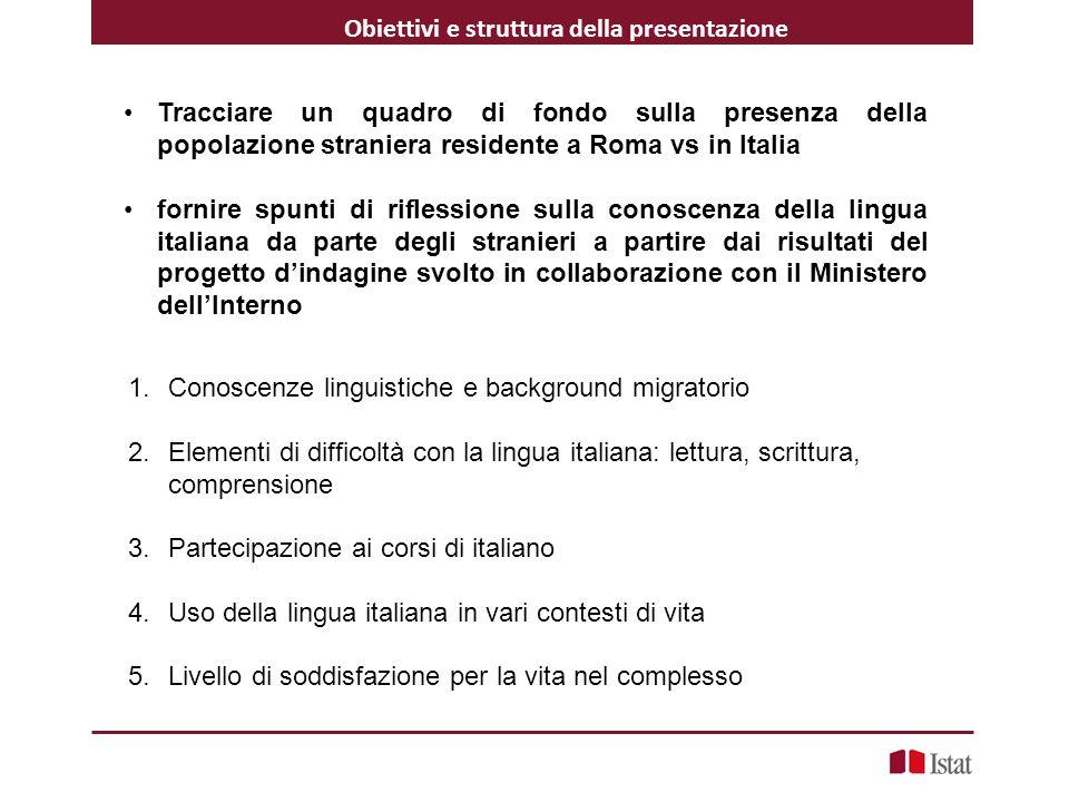 Obiettivi e struttura della presentazione