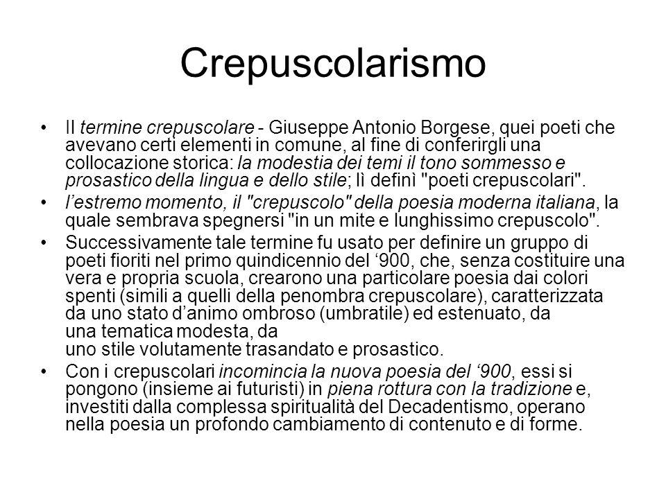 Crepuscolarismo