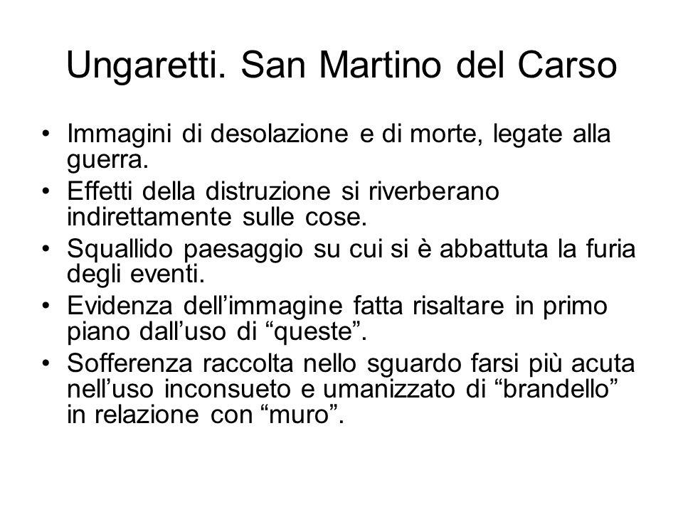 Ungaretti. San Martino del Carso