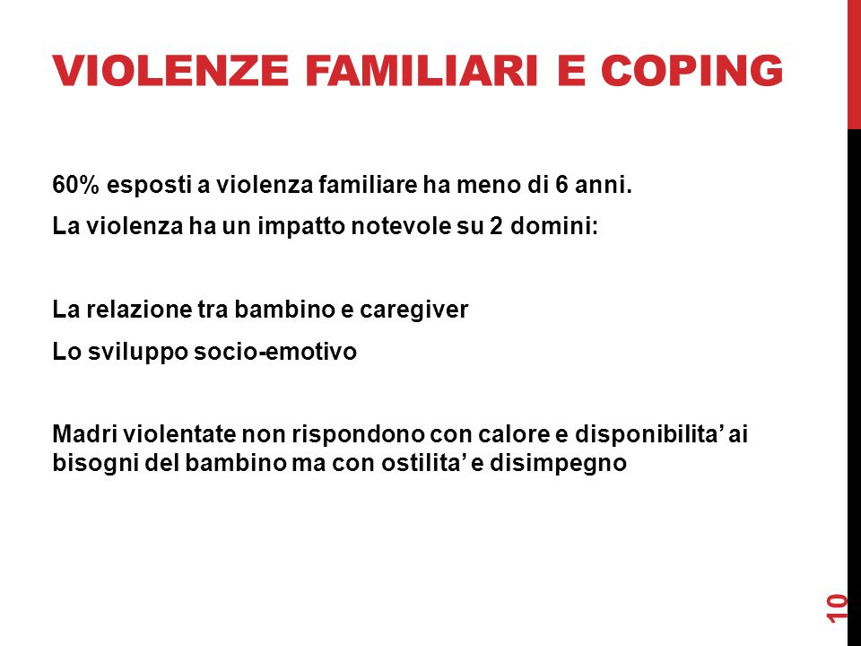 Violenze familiari e coping