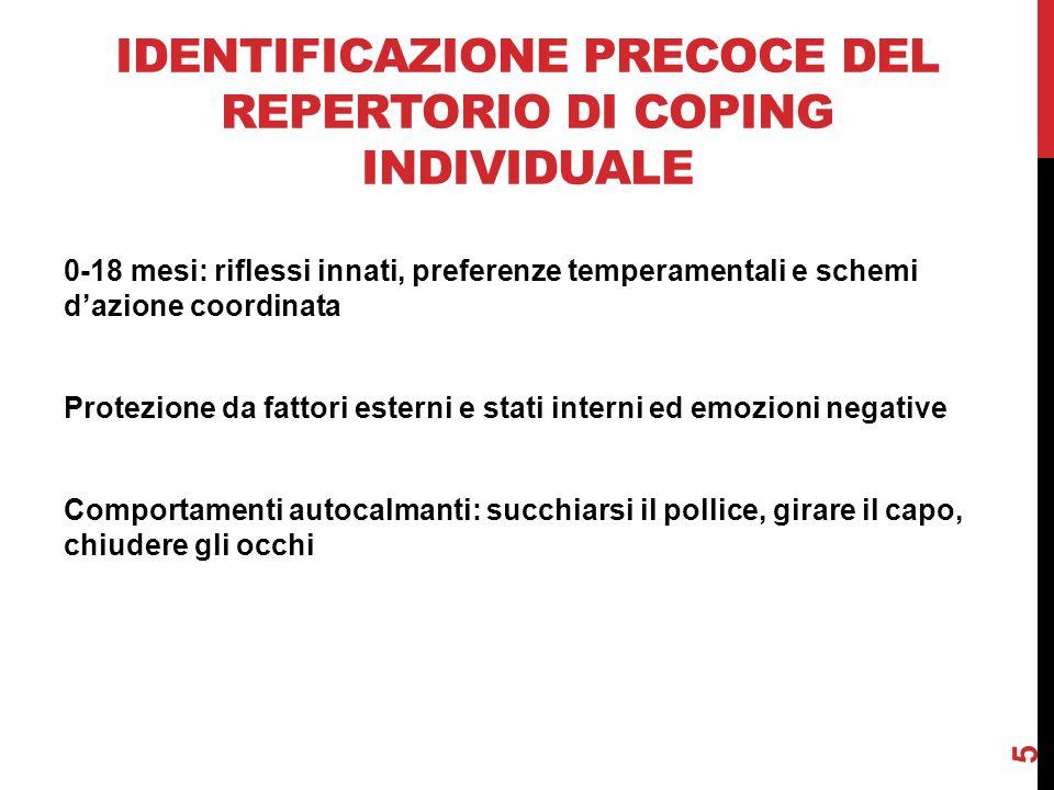 Identificazione precoce del repertorio di coping individuale