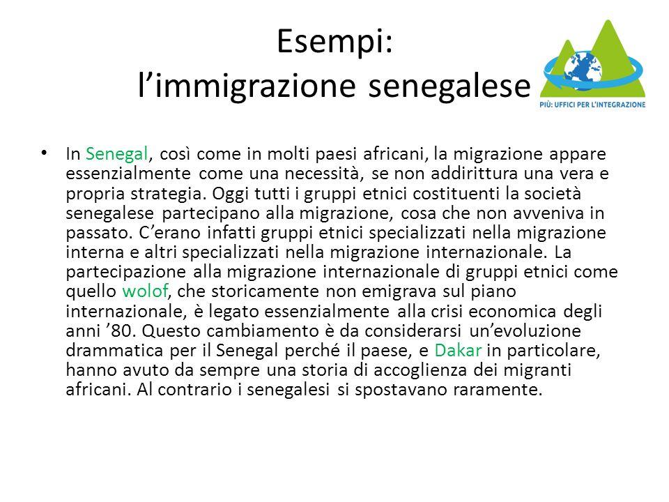 Esempi: l'immigrazione senegalese