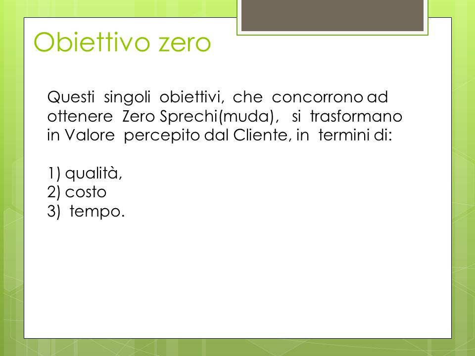 Obiettivo zero