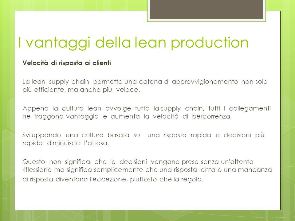 I vantaggi della lean production