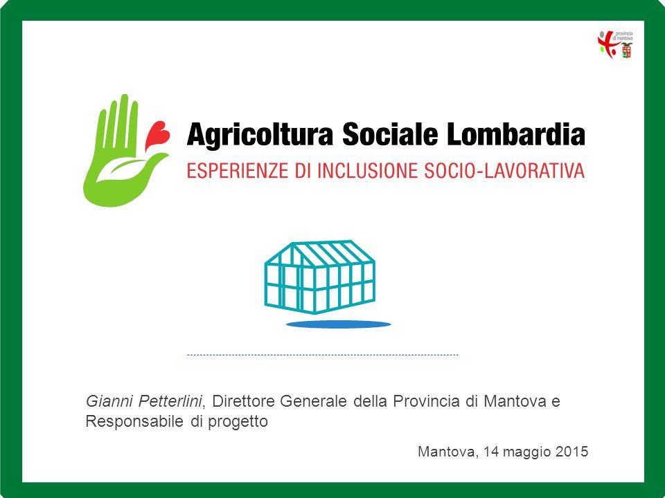 Gianni Petterlini, Direttore Generale della Provincia di Mantova e Responsabile di progetto