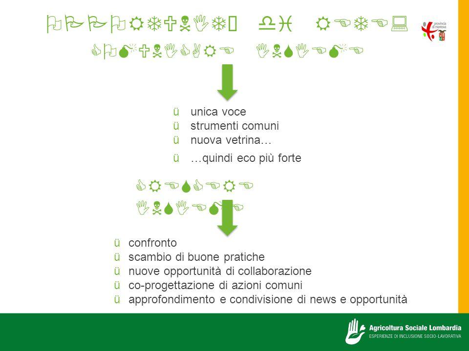 OPPORTUNITÀ di RETE: COMUNICARE INSIEME CRESCERE INSIEME unica voce