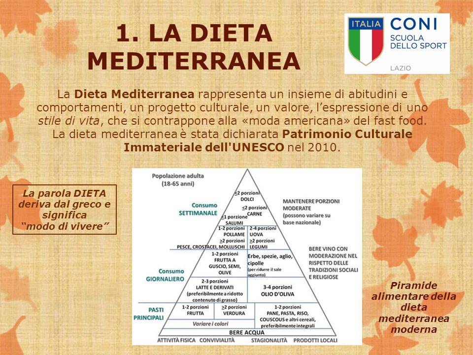 1. LA DIETA MEDITERRANEA