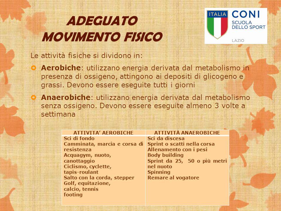 ADEGUATO MOVIMENTO FISICO