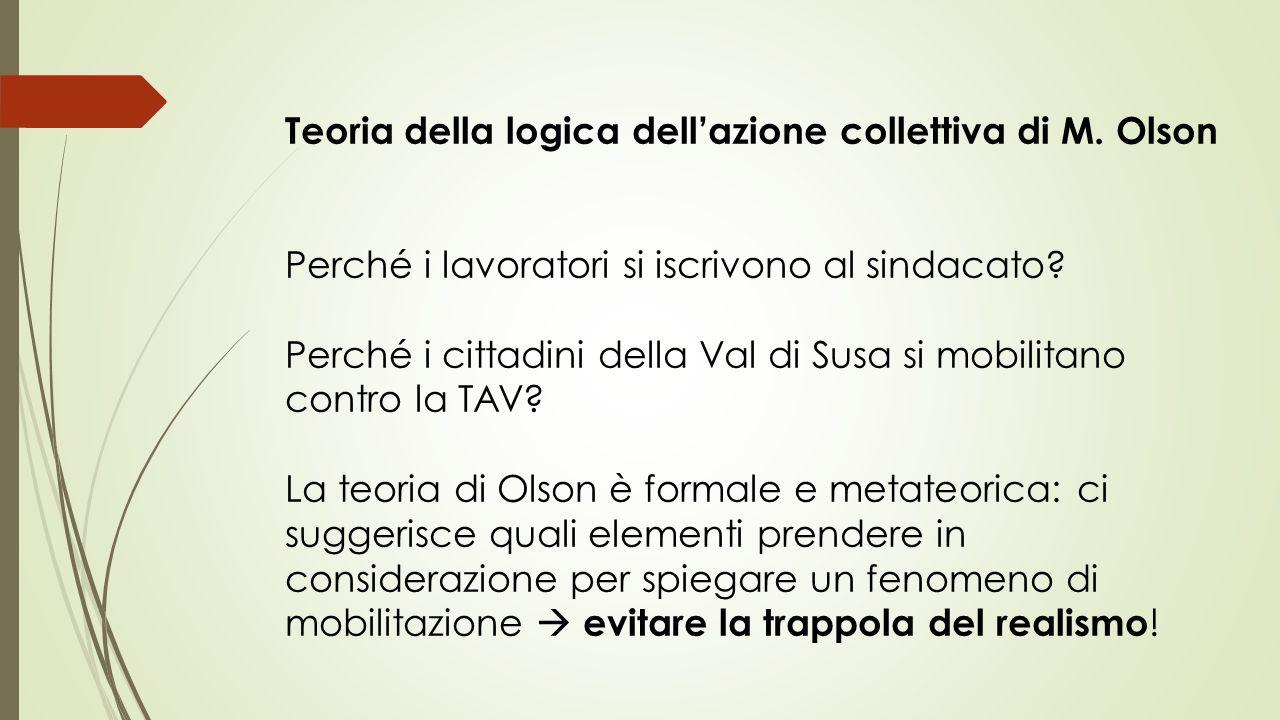 Teoria della logica dell'azione collettiva di M. Olson