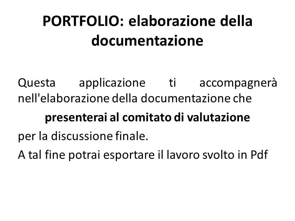 PORTFOLIO: elaborazione della documentazione