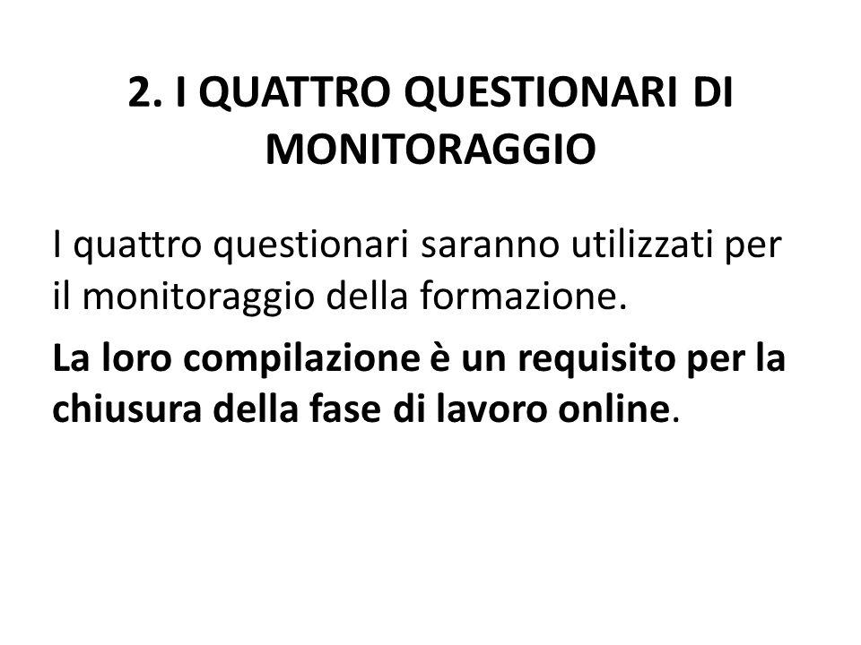 2. I QUATTRO QUESTIONARI DI MONITORAGGIO
