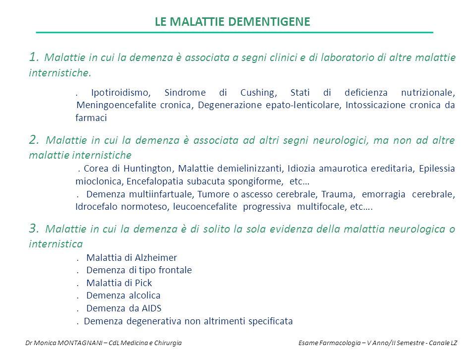LE MALATTIE DEMENTIGENE