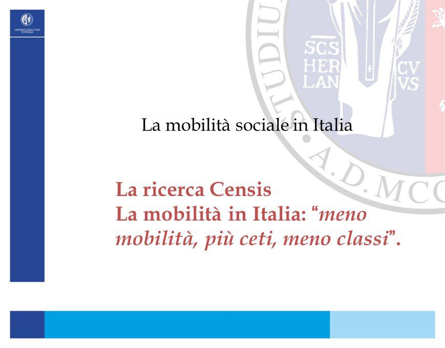 La mobilità sociale in Italia