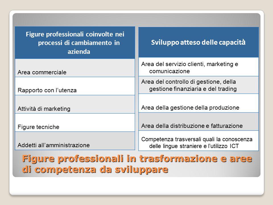 Figure professionali coinvolte nei processi di cambiamento in azienda