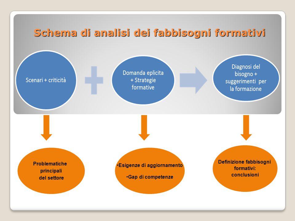 Schema di analisi dei fabbisogni formativi