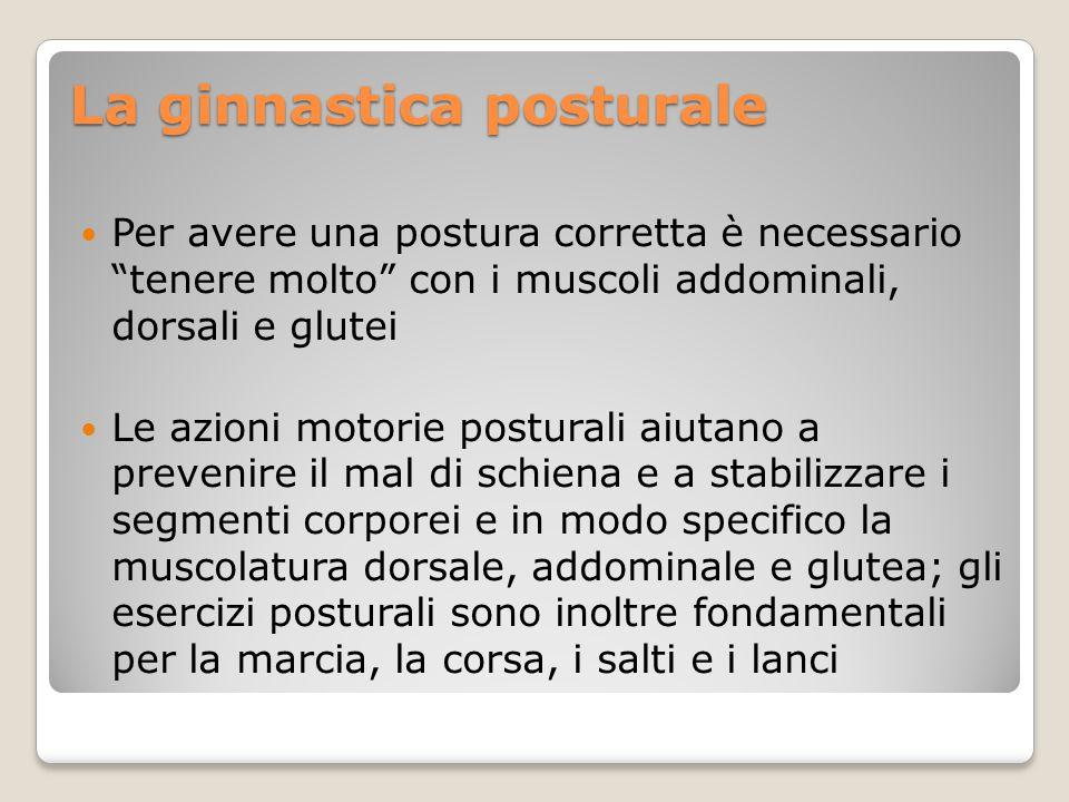 La ginnastica posturale