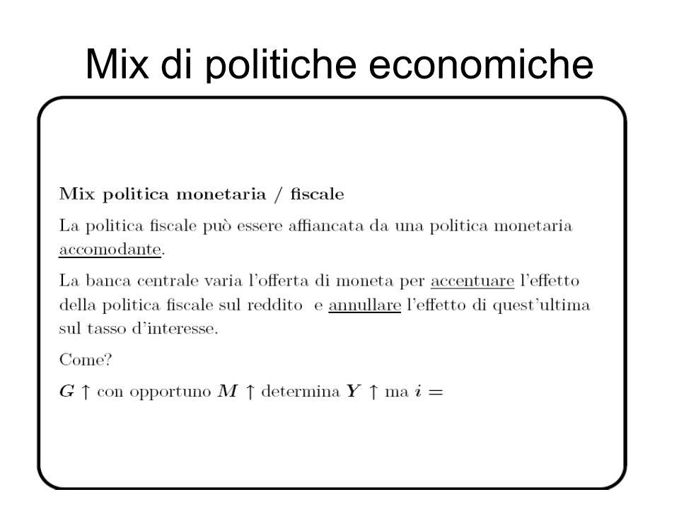 Mix di politiche economiche