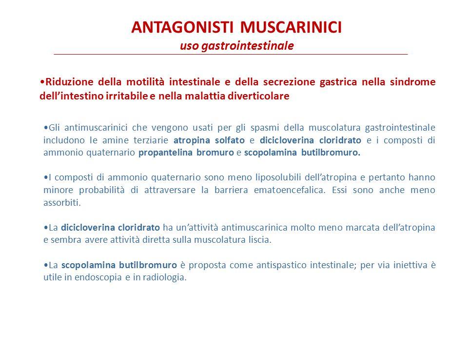 ANTAGONISTI MUSCARINICI uso gastrointestinale