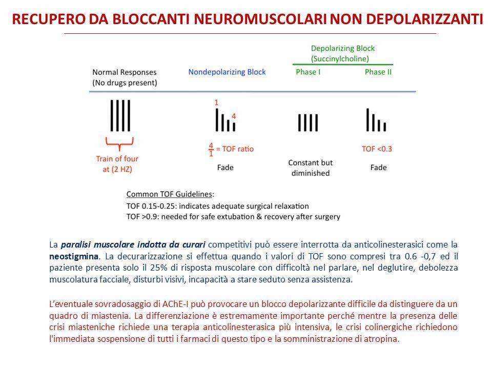 recupero da bloccanti neuromuscolari non depolarizzanti