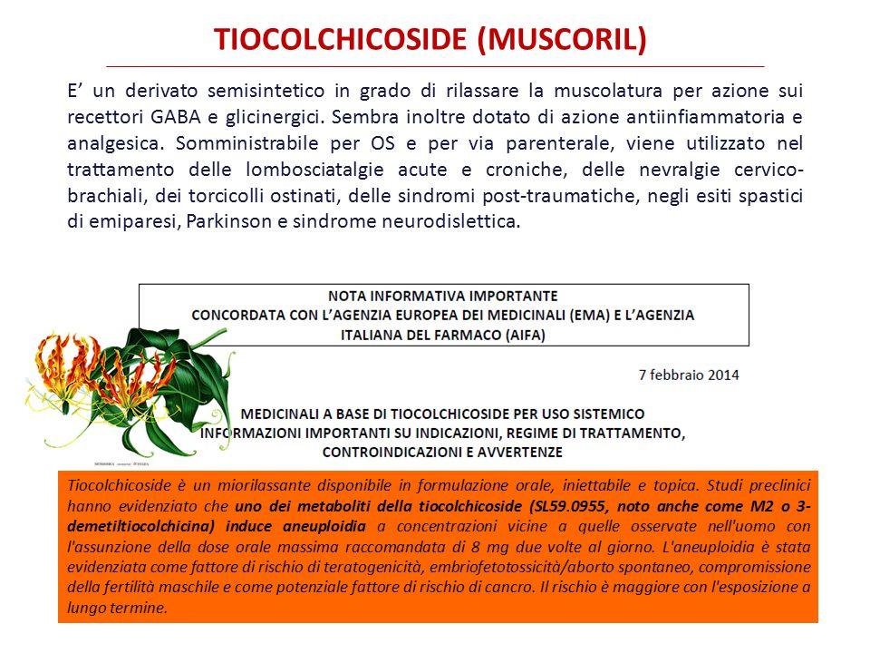 TIOCOLCHICOSIDE (MUSCORIL)