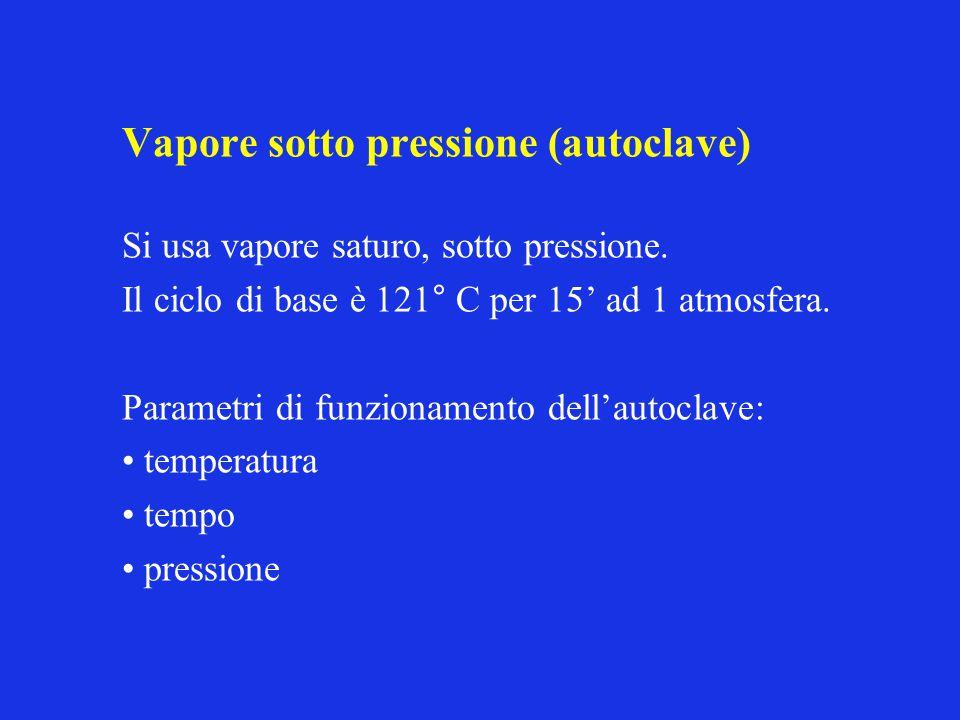 Vapore sotto pressione (autoclave)