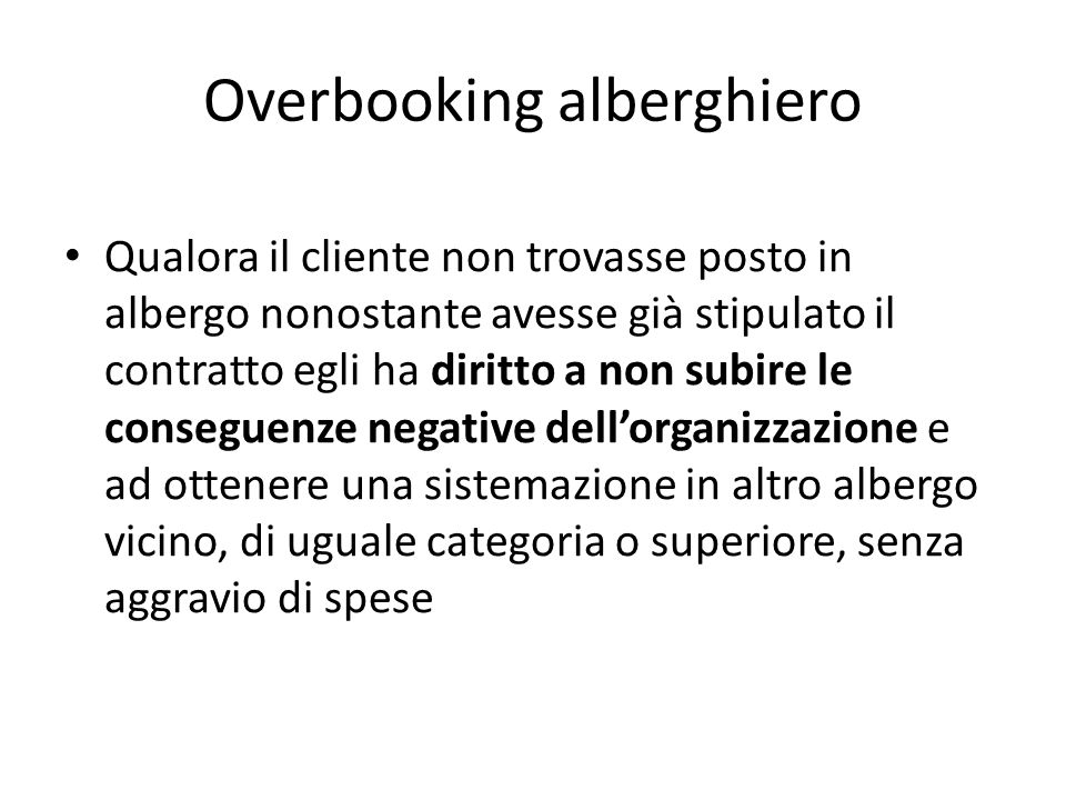 Overbooking alberghiero