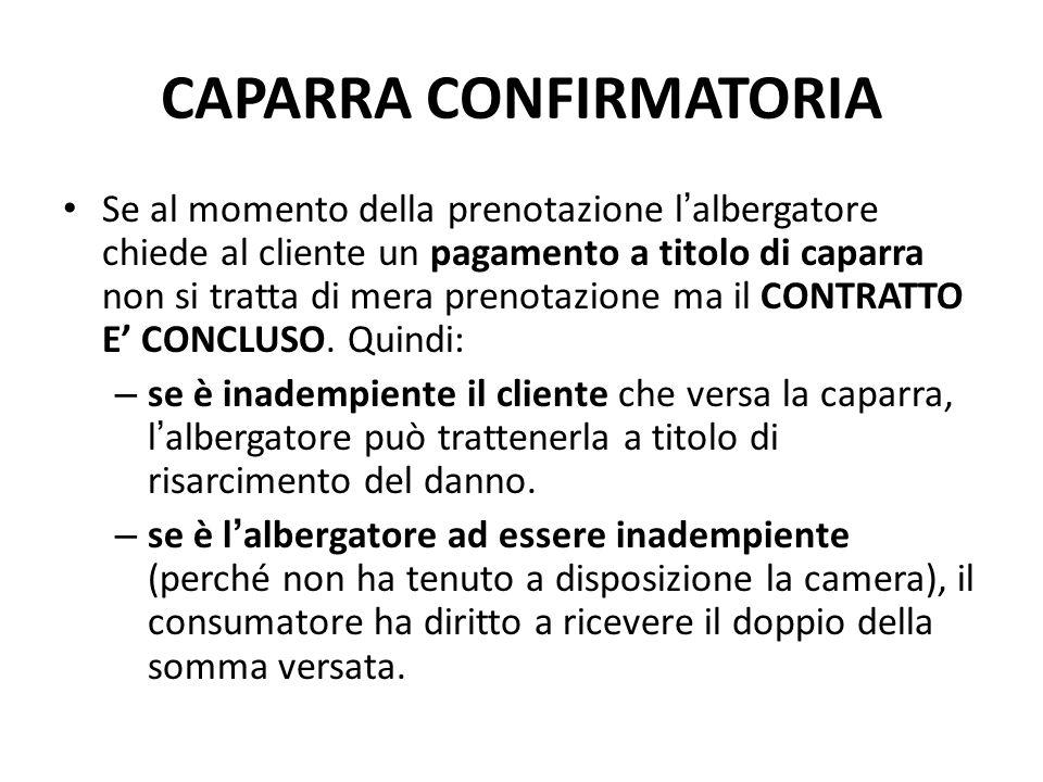 CAPARRA CONFIRMATORIA
